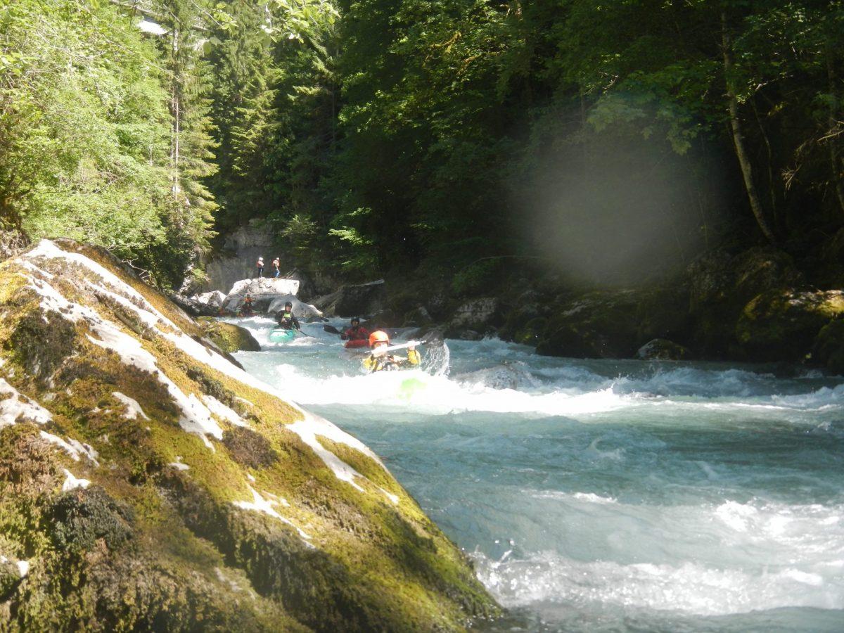 Wildwasserstrecke im Simmental